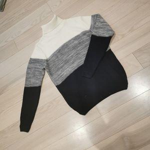 Men turtleneck knit sweater